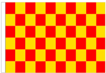 Red And Yellow Check 5' x 3' Larger Sleeved Flag
